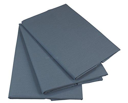 KMP Bettlaken Betttuch Haustuch 100% Baumwolle ohne Gummizug viele Uni Farben (200 x 220 cm, Grau)