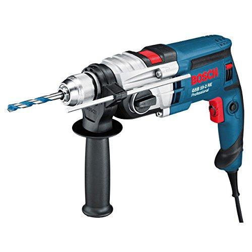 Bosch Professional Schlagbohrmaschine GSB 19-2 RE (2-Gang, Schnellspannbohrfutter: 13 mm, Tiefenanschlag: 210 mm, Zusatzhandgriff, Koffer, Bohr-Ø in Beton: 18 - 23 mm, 850 Watt)