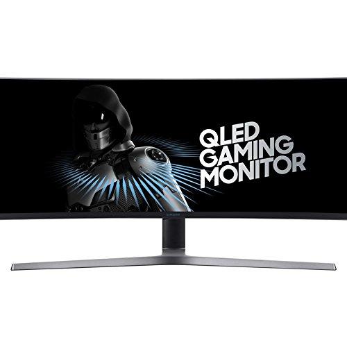 Samsung C49HG90DMU 124,20 cm (49 Zoll) LED Multitasking Monitor (2x HDMI, Display Port, Mini-Display Port, USB, 3840 x 1080 Pixel) mattschwarz