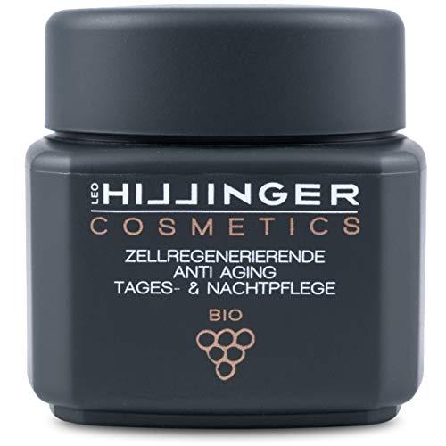 HILLINGER COSMETICS Anti-Aging-Creme für Tag & Nacht - vegane, zellregenerierende Anti-Falten-Creme mit Hyaluronsäuren & Resveratrol, 50 ml