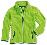 Playshoes Mädchen Fleece farbig abgesetzt Jacke, grün 29, 116