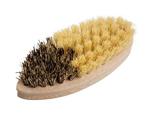 Gemüsebürste/Reinigungsbürste von BÜMAG, aus Buche-Holz mit Zwei Arten von Natur-Borste