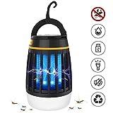 DKINGHOME Anti Moskito Lampe Camping Laterne Licht Moskito Mörder Outdoor Insektenfalle Repeller LED Tragbare Elektrische USB Aufladbare 3 in 1 - Schwarz