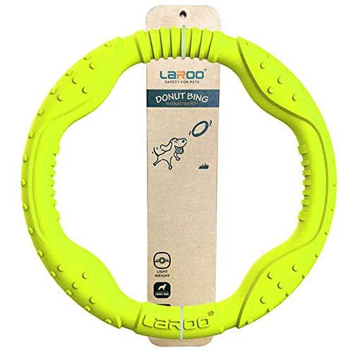 LaRoo Hundefrisbee Große Dog Frisbee Hundespielzeug Wasser schwimmend, Outdoor Fitness Flying Ring, Tauziehen Interaktive Trainingsring für mittlere und große Hunde.