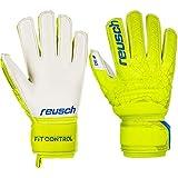 Reusch Kinder Fit Control SG Finger Support Torwarthandschuhe, Lime/Safety Yellow, 5.5