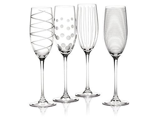 Mikasa Cheers Set mit 4 Kristall-Champagnerflötengläsern, 250 ml (8fl oz)