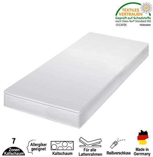 cpt hydrovital 7 Zonen Premium Kaltschaummatratze - Matratze Härtegrad 2in1 H2 & H3 - Rollmatratze (120 x 200 cm, H3)