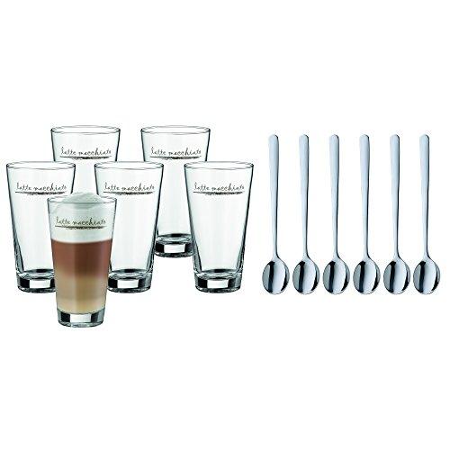 WMF Latte Macchiato Set 12-teilig Latte Macchiato Glas Latte Macchiato Löffel Clever & More