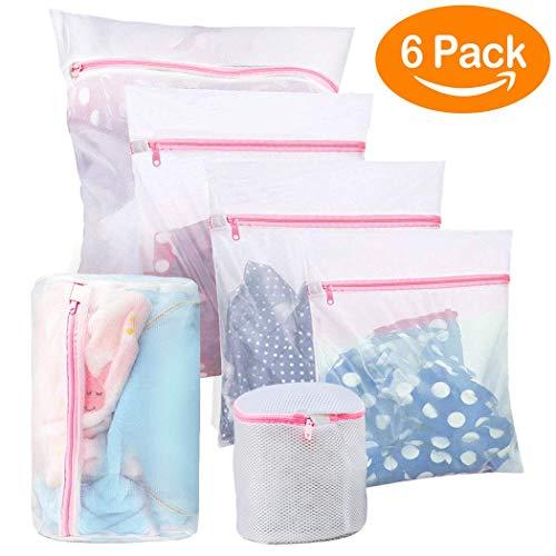 BoxLegend Wäschenetze Wäschebeutel Wäschesack für die Waschmaschine, haltbarer Netz-Wäschebeutel mit Reißverschluss für Feinwäsche, Unterwäsche, Feines und Socken (6 Stück)