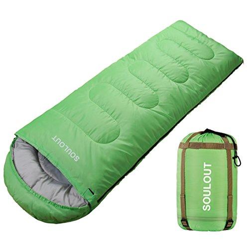 SOULOUT Schlafsack 3-4 Jahreszeiten - Wasserdichter Leichter Deckenschlafsack für Camping, Reisen und Outdoor-Aktivitäten -Ideal für Erwachsene und Kinder - 220 x 75 cm