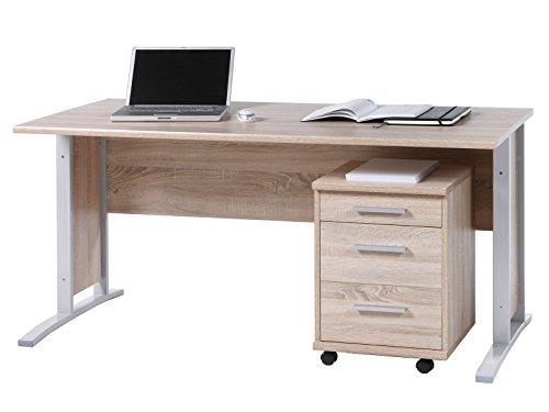 Schreibtisch Arbeitstisch Bürotisch Computertisch Laptoptisch Büro 'Clermont I' Sonoma-Eiche
