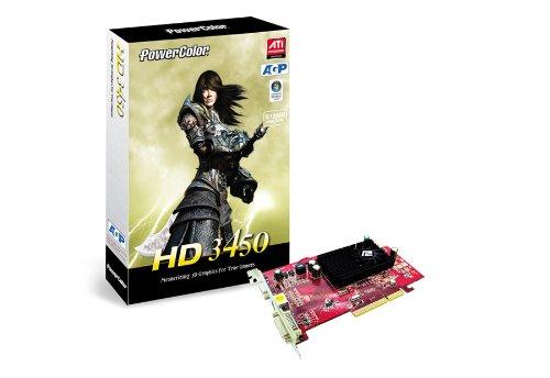 PowerColor AG3450 512MD2-V2 Radeon HD3450 GDDR2 Grafikkarte - Grafikkarten (Radeon HD3450, GDDR2, 64 Bit, 666 MHz, 2560 x 1600 Pixel, AGP 8x)