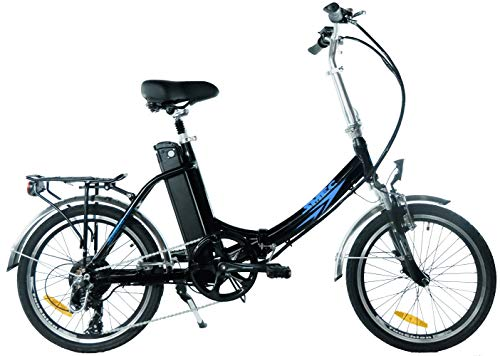 swemo 20 Zoll Alu Klapp E-Bike/Pedelec SW200 Neu (Schwarz)
