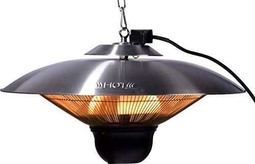 Runder Decken-Heizstrahler 'Cozy Ceiling' mit Bluetooth-Lautsprecher und Fernbedienung, Heizlüfter Elektro-Heizgerät für innen und außen, ca. 50 x 50 x 24 cm