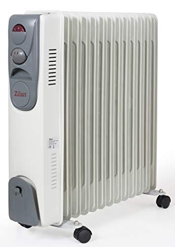 13 Rippen Öl Radiator 2.500 Watt   Elektroheizung   Heizstrahler   Mini Heizung   3 Heizstufen   5 Ölleitungen   Thermostat   Schnelles Aufheizen   Überhitzungsschutz  