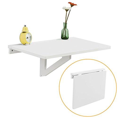 SoBuy Wandklapptisch,Küchentisch,Kindermöbel,Laptoptisch,Esstisch,Schreibtisch,60x40cm FWT03-Weiss