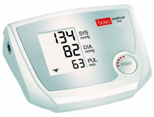 boso medicus uno / Oberarm-Blutdruckmessgerät mit Einknopfbedienung, großem Display und Arrhythmie-Erkennung / Inkl. Manschette (22-32cm)