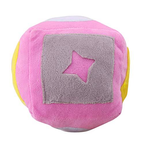 LOVIVER Modisches Plüsch Hunde Ball Spielzeug - Rosa
