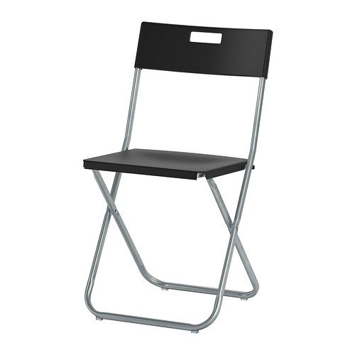 IKEA GUNDE Klappstuhl, Schwarz