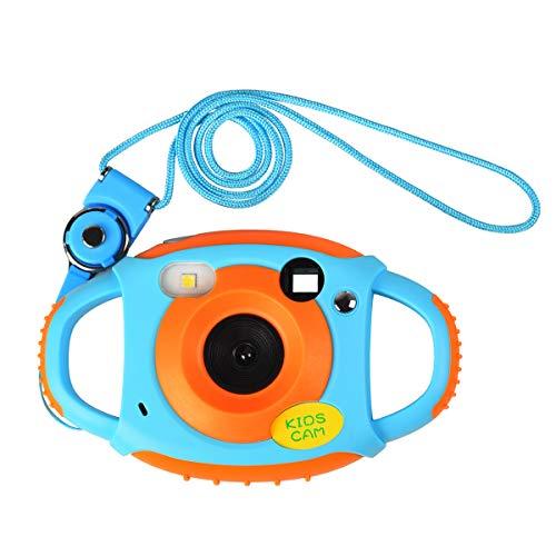 Funkprofi Kinder Kamera Kid Cam Mini Digital Camera Camcorder 5 Megapixel 1,44 Zoll Display Geschenk und Spielzeug für Kinder (Orange)