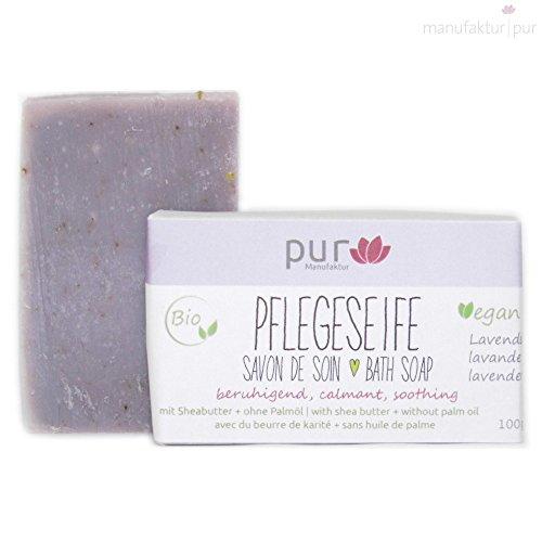 Manufaktur Pur Bio Sheabutter-Naturseife Lavendel 100 g