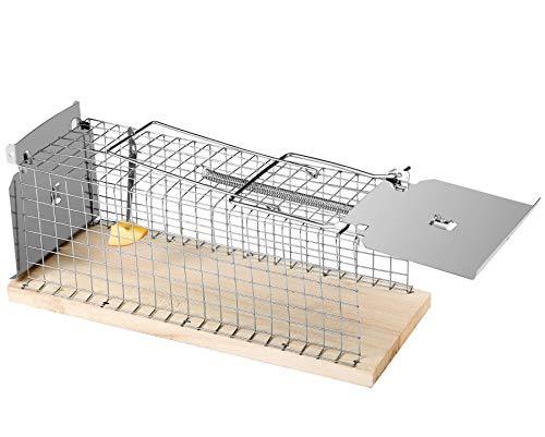 Praknu Rattenfalle Lebendfalle 30cm Groß | Effektiv und Robust | Falle für Wühlmause und Ratten