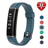 Letsfit Fitness Armband mit Herzfrequenz, Fitness Tracker Aktivitätstracker Schlaf-Monitor Schrittzähler Smartwatch Pulsuhren IP67 Wasserdicht für Herren, Damen und Kinder