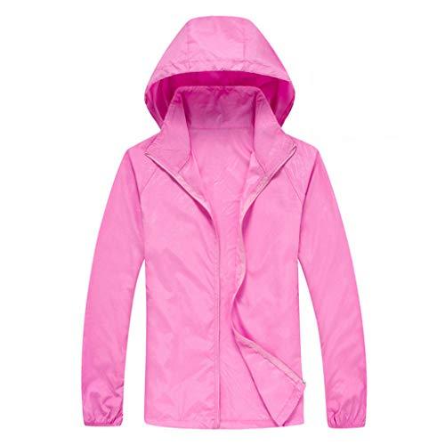 ZHANSANFM Sonnenschutzkleidung Unisex Ultradünne atmungsaktive Kleidung Radtrikot Radjacke Softshell Lightweightjacke Regenjacke upf50 uv-schutzkleidung Haut Windbreaker Outdoor (S, Pink1)