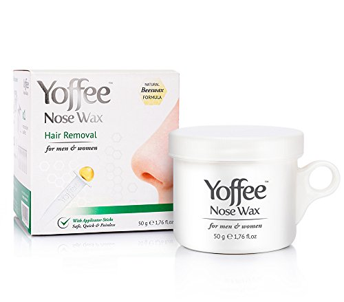 Simon & Tom Yoffee Nose Wax 50g Nasal Hair Removal with Natural Beeswax Formula. Safe  Quick  and Painless  10 Applicator Sticks