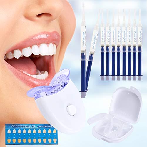 Teeth Whitening Sets,Zahnaufhellung Gel Professionelles Bleaching Zahnbleaching für Weiß Zähne, Effektive Zahnreinigung Und Pflege (White)