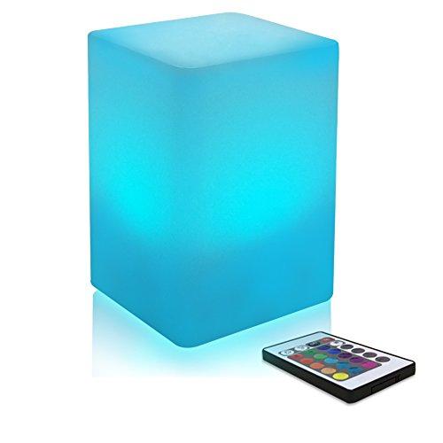Schlafzimmer Nachtlicht Farbwechsel LED Stimmungslicht für Kinder und Erwachsene - 8 Level Dimming - 16 RGB Farben - Wiederaufladbare - Tisch Nachttischlampe mit Fernbedienung - 10*15cm