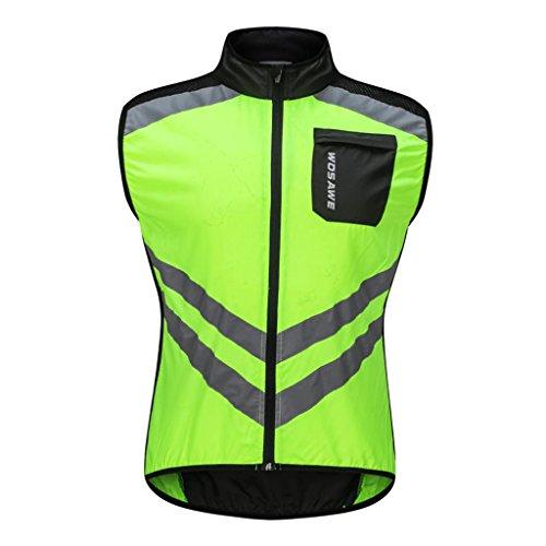 FLAMEER Fahrradweste Laufweste Radweste Sportweste für Radsport Radfahren - Grün XL