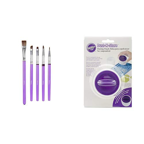 Wilton Decorating Brush Set/5 Werkzeug, Kunststoff, violett 0,89x11x27 cm 5-Einheiten