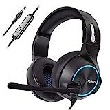 NUBWO Gaming Headset PS4, N11 Xbox one Stereo Wired PC Gaming Headphone mit Rauschunterdrückungsmikrofon, Over-Ear Kopfhörer mit Mute Kontrol für PC, MAC, Playstation 4, Xbox 1 Game- Blue
