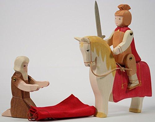 Ostheimer 37910 Set St. Martin mit Sankt Martin, Pferd und Bettler und Holzkiste