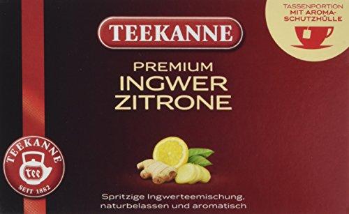 Teekanne Premium Ingwer Zitrone, 20er aromaversiegelte Beutel, 5er Pack (5 x 35 g)
