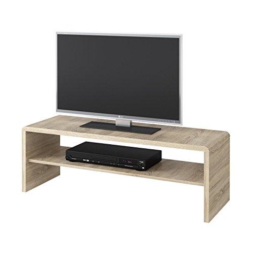 Couchtisch TV Lowboard Fernsehtisch LEXA, in Sonoma Eiche, 120 x 40 cm, mit Ablagefach