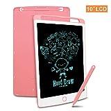 Richgv LCD Writing Tablet mit Anti-Clearance Funktion und Stift, Digital Ewriter Grafiktabletts Mini Schreibtafel Papierlos Notepad Doodle Board (10 Zoll, Rosa)