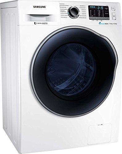 Samsung WD5000 WD72J5A00AW/EG Waschtrockner/a/15400 kWh/Jahr/1400 UpM/7 kg/8400 L/jahr/SchaumAktiv/AirWash/Weiß