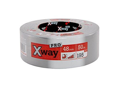 Schuller Eh´klar X-Way Gewebeband Profi 48 mm x 50 m, 1 Stück, silber,45769
