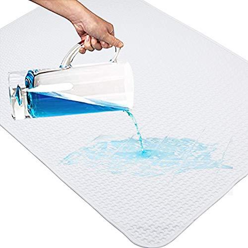 YOOFOSS Baby Matratzenschoner 70x100cm Wasserdichte Atmungsaktive Matratzenauflage Wickelunterlage Inkontinenzauflage Waschbar Matratzenschutz (Weiß) MEHRWEG