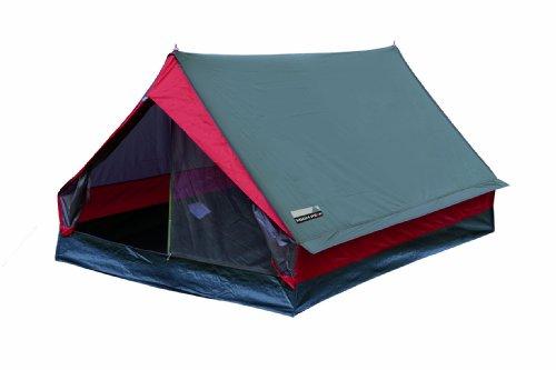 High Peak Zelt Minipack, grau/rot, 10053, 2 Personen