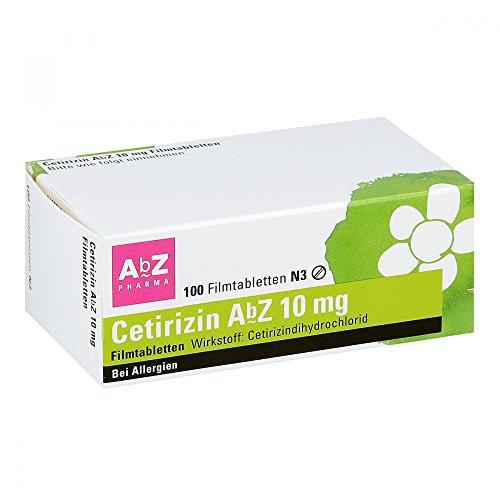 Cetirizin Abz 10 mg Filmtabletten 100 stk
