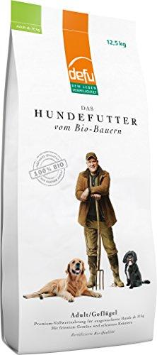 defu Bio Hundefutter Geflügel 12.5 kg, 1er Pack (1 x 12.5 kg)