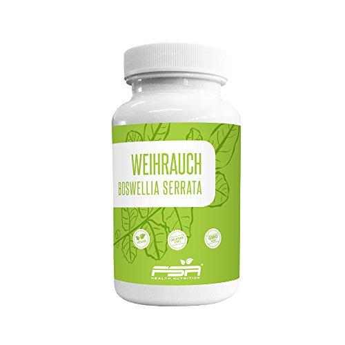 Weihrauch Kapseln 500mg hochdosiert der Profisport Marke FSA Nutrition | Indischer Weihrauch | Boswellia serrata | Ohne Füll- und Trennstoffe | vegan | 120 Kapseln