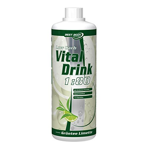 Best Body Nutrition - Low Carb Vital Drink, Grüntee-Limette, 1000 ml Flasche