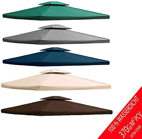 freigarten.de Ersatzdach für Pavillon 3x4 Meter Wasserdicht Material: Panama PCV Soft 370g/m² extra stark Modell 5 (Beige)