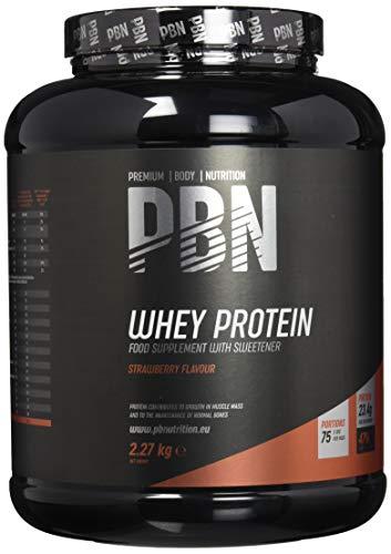 PBN Whey Protein / Molkeeiweißpulver, 2,27kg Erdbeere