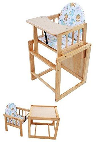 Kombi Hochstuhl Kiefer massiv von UNITED-KIDS, Essbrett aus Holz, Farbe:Kiefer massiv