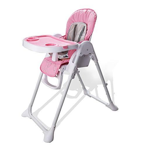 Hengda Kinderhochstuhl Höhenverstellbar mit 5-Punkt Sicherheitsgurt Kinderstuhl Hochstuhl Erfüllt europäische Sicherheitsstandards